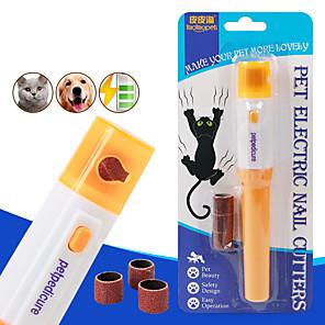 cheap Dog Clothes-Dog Cat Nail Grinder Plastic Nail Clipper Nail File Portable Pet Grooming Supplies Random Color