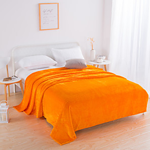 cheap Blankets & Throws-Bed Blankets / Sofa Throw / Multifunctional Blankets, Nature & Landscapes Flannel Toison Warmer Soft Comfy Blankets