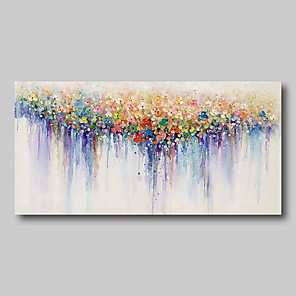 cheap Floral/Botanical Paintings-Oil Painting Hand Painted - Abstract Comtemporary Modern Stretched Canvas Nude Girls