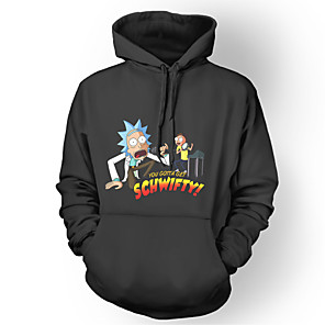 cheap Everyday Cosplay Anime Hoodies & T-Shirts-Inspired by Rick and Morty Hoodie Polyster Print Printing Hoodie For Men's / Women's