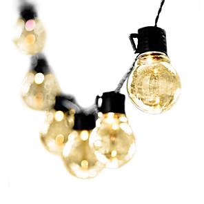 povoljno LED svjetla u traci-3M Žice sa svjetlima 10 LED diode 1pc Toplo bijelo Božić Novogodišnji Vodootporno Outdoor Ukrasno 220-240 V / Povezivo