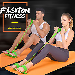 cheap Fitness Gear & Accessories-Pedal Resistance Band Sit-up Pull Rope Sports Latex Indoor Fitness Stretchy Muscular Bodyweight Training Muscle Building Weight Loss For All / Teenager