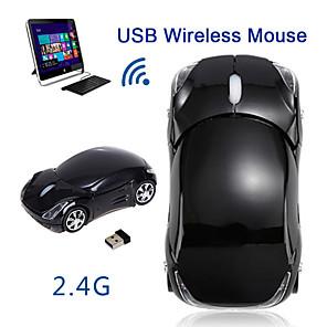 ieftine Card Micro SD/TF-Fl01 mouse mouse wireless 2.4ghz 1600dpi formă de mașină defilare optică wireless lumină de respirație șoareci ergonomici pentru tabletă computer laptop laptop