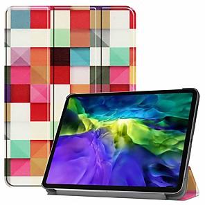 cheap iPad case-Case For Pro 11''(2020) / iPad 10.2''(2019) / Ipad air3 10.5'(2019) Shockproof / with Stand / Flip Full Body Cases Magic Squares PU Leather Case For iPad (2017) / iPad Mini 5/4 iPad (2018) / iPad Air2
