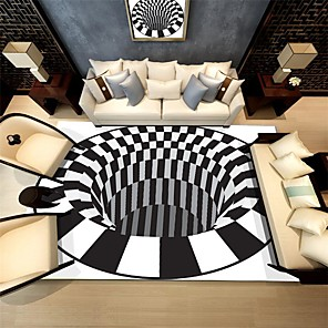 cheap Cycling Jersey & Shorts / Pants Sets-3D Geometric Optical Illusion Non-Slip Carpet Fluffy Anti-Skid Area Rugs for Home Dining Room Bedroom Living Room Art Floor Mat
