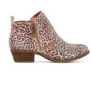 cheap Women's Boots-Women's Boots Chunky Heel Open Toe PU Summer Dark Brown / Brown / Black