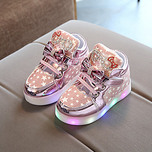 cheap CCTV Cameras-Girls' LED / Comfort / USB Charging PU Sneakers Little Kids(4-7ys) Luminous Fuchsia / Pink / Gold Fall / Winter