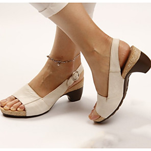 cheap Women's Sandals-Women's Sandals Platform Sandals Platform Round Toe Daily PU Summer Black / Yellow / Red
