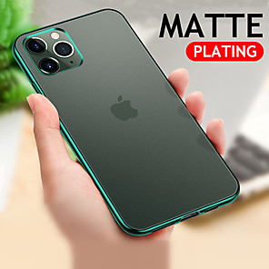 cheap iPhone Cases-Matte Plating Clear Phone Case For Apple iPhone 11 Pro Max XR XS Max X 8 Plus 7 Plus 6 Plus Soft TPU Candy Color Cover