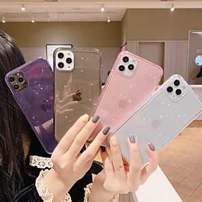 cheap iPhone Cases-Case for Apple scene map iPhone 11 11 Pro 11 Pro Max X XS XR XS Max 8 pure color glitter translucent TPU material all-inclusive mobile phone case HRS