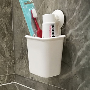 cheap Bathroom Gadgets-Non-marking Sucker Toothbrush Holder Wall-mounted Suit Bathroom Toilet Toothpaste Toothbrush Holder Rack Free Of Holes