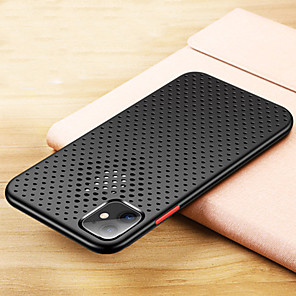cheap iPhone Cases-iPhone11Pro Max Mesh Breathing Cooling Mobile Phone Case XS Max Silicone Protective Case Real Machine Opening Hole 6/7 / 8Plus Drop Protection Case