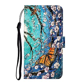 cheap Samsung Case-Case For Samsung Galaxy S10/S10 Plus /A50 Wallet / Card Holder / with Stand Full Body Cases Butterfly PU Leather For Galaxy S10E/S20 Ultra/A01/A11/A21/A41/A51/A71/A20E/A30S