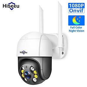 cheap Outdoor IP Network Cameras-Hiseeu WHD812B 1080P Speed Dome WIFI Camera 2MP Outdoor Wireless PTZ IP Camera Cloud-SD Slot ONVIF 2-Way Audio Network CCTV Surveillance