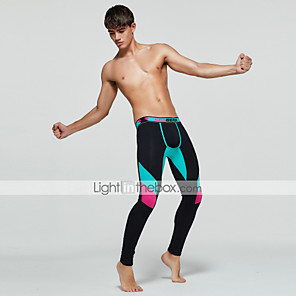 cheap Men's Running Tights & Leggings-TAUWELL Men's Running Tights Leggings Compression Pants Sports & Outdoor Base Layer Tights Leggings Winter Gym Workout Running Jogging Training Moisture Wicking Quick Dry Breathable Sport Black Dark