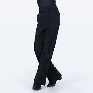 cheap Latin Dancewear-Latin Dance Pants Split Joint Boys' Training Performance Natural Elastane