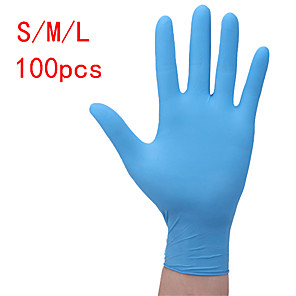 cheap Eyeliner Brushes-100PCS Disposable Latex Gloves Rubber Gloves Cleaning Gloves Work Gloves