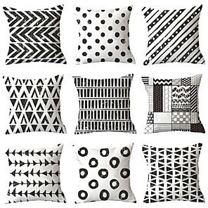 cheap Throw Pillow Covers-9 pcs Throw Pillow Simple Classic 45*45 cm Cushion Vintage Circle Cover Sofa Home Decor Throw Pillow Case