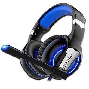 cheap Gaming Headsets-G1 Gaming Headphones soft Microphone game Earphones Deep Bass Stereo Big over-ear Headsets for PC PS4 Computer Gamer Laptop