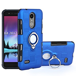cheap Other Phone Case-Case For LG LG Q7 / LG Q6 / LG K10 2018 Shockproof / with Stand Full Body Cases Tile TPU