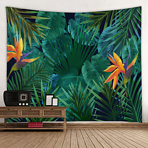 cheap Wallpaper-Home Living Tapestry Wall Hanging Tapestries Wall Blanket Wall Art Wall Decor Tropical Leaf Tapestry Wall Decor
