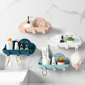 cheap Bathroom Gadgets-Cloud Shape Soap Box Punch-free Key Holder Home Storage Dishs Bathroom Kitchen Holder Tray Accessories Bathroom Gadgets