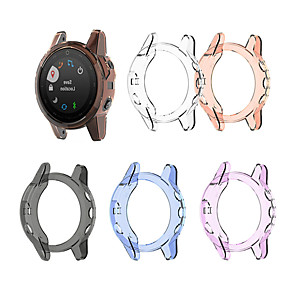 cheap Smartwatch Bands-For Garmin Fenix 5S Replacement TPU Protective Case Cover Shell Transparent