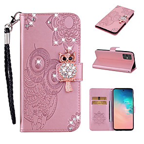 cheap Samsung Case-Case For Samsung Galaxy S9 / S9 Plus / S8 Plus Wallet / Card Holder / Shockproof Full Body Cases Animal PU Leather / TPU
