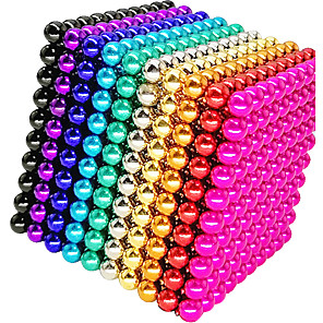cheap Video Game Accessories-1000 pcs 5mm Magnet Toy Magnetic Balls Building Blocks Super Strong Rare-Earth Magnets Neodymium Magnet Neodymium Magnet Magnetic Stress and Anxiety Relief Office Desk Toys Relieves ADD, ADHD