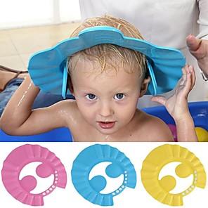 abordables Accessoires pour Salle de Bain-bébé bonnets de douche shampooing casquette laver cheveux enfants bain visière chapeaux réglable bouclier étanche oreille protection yeux enfants chapeaux bébé