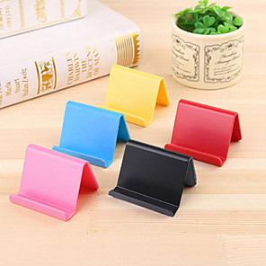 cheap Phone Mounts & Holders-Candy-colored Portable Business Card Holder Mobile Phone Holder Lazy Stand Portable Mobile Phone Holder