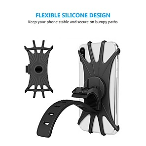 cheap Indoor IP Network Cameras-Bicycle Mobile Phone Holder Silicone Motorcycle Bike Handlebar Stand Mount Bracket Bike Mount Phone Holder For iPhone GPS Device
