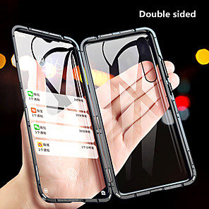 cheap Xiaomi Case-Magnetic Double Sided Case For Xiaomi Redmi Note 8 / Redmi Note 8 Pro / Redmi K30 Shockproof / Mirror Full Body Cases Solid Colored Tempered Glass / Metal