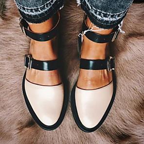 cheap Women's Heels-Women's Flats Flat Heel Round Toe PU Spring & Summer Pink / White / Black