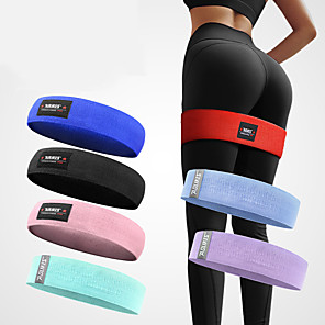 cheap Fitness Gear & Accessories-AOLIKES Hip Trainer Booty Hip Bands Resistance Bands for Legs and Butt 1 pcs Sports Polyester Latex silk Home Workout Yoga Pilates Stretch Anti Slip Strength Training Helps to Lift, Tighten and