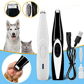 cheap Home Automation & Entertainment-Dog Cat Nail Hair Trimmer Grinder Pet Grooming Tool Electrical Shearing Cutter USB Rechargeable Dog Haircut Paw Shaver Clipper