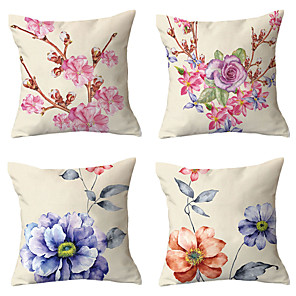 cheap Sale-4 pcs Throw Pillow Simple Classic 45*45 cm Cushion Vintage Circle Cover Sofa Home Decor Throw Pillow Case