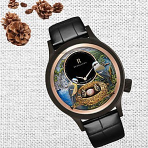 cheap Hair Jewelry-Women's Quartz Watches Quartz Casual Water Resistant / Waterproof Genuine Leather Analog - Rose Gold Golden+Black Black One Year Battery Life / Japanese / Japanese