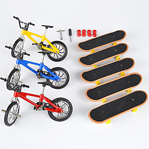 cheap Stuffed Animals-8 pcs Finger skateboards Mini fingerboards Finger bikes Finger Toys Plastic Metal with Replacement Wheels and Tools Skate Kid's Teen Party Favors  for Kid's Gifts