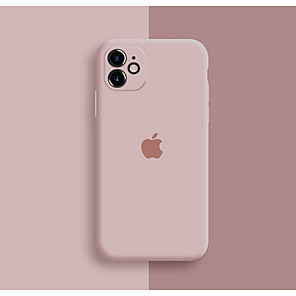 cheap iPhone Cases-Case For Apple iPhone 11 / iPhone 11 Pro / iPhone 11 Pro Max Shockproof / Dustproof / Pattern Back Cover Playing with Apple Logo / Tile / Solid Colored Silicone / Silica Gel