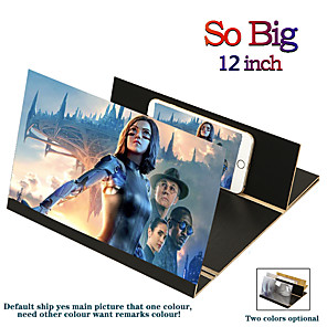 cheap Phone Mounts & Holders-3D universal screen amplifier Stereoscopic 12-Inch Fashion Mobile Phone Screen Folding For Xiaomi Samsung Huawei Apple