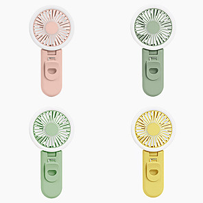 cheap Smart Novelty Lights-LED Fill Light with Mini Fan TikTok Lights Youtube Video USB Charging Pocket Carry Mini Mute Fresh Cooling Fan Macaron Color with Clip 3 Modes