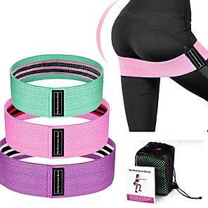 cheap Fitness Gear & Accessories-Booty Bands Resistance Bands for Legs and Butt Sports Latex silk Home Workout Yoga Pilates Extra Wide Stretchy Flexible Thick Anti Slip Durable Helps to Lift, Tighten and Reshape the Plump Buttock