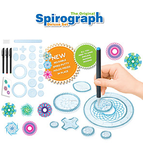 cheap Drawing Toys-Drawing Toy Spirograph Design Set Creative Geometric Pattern Plastic Shell For Child's All 22 pcs