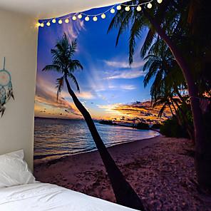 cheap Wall Tapestries-Zomer Golden Sunset Coconut Home Decor Zee Wandtapijten Woonkamer Slaapkamer Bed Muur Tapijt Opknoping Deken Tafelkleed
