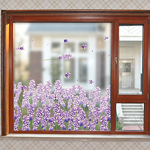 cheap Wall Stickers-Matte / Floral 60 cm 58 cm Window Sticker / Matte / Door Sticker PVC(PolyVinyl Chloride)
