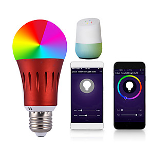 cheap Pendant Lights-1pc 7 W LED Globe Bulbs LED Smart Bulbs 700 lm E14 B22 E26 / E27 20 LED Beads APP Control Smart Timing Multi-colors 85-265 V