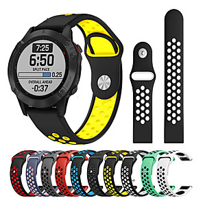 cheap Smartwatch Bands-Watch Band for Approach S60 / Fenix 5 / Fenix 5 Plus Garmin Sport Band / Classic Buckle / Modern Buckle Silicone Wrist Strap