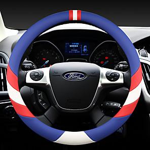 economico Copristerzo per auto-il volante per auto moda copre in pelle 38 cm antiscivolo traspirante per accessori auto ford quattro stagioni
