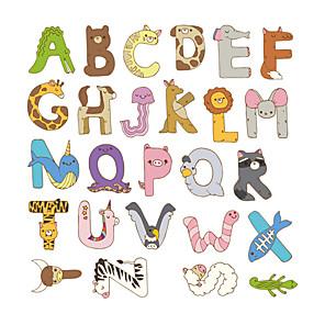 cheap Wall Stickers-Removable Cartoon Cute Animals Letter Alphabet Waterproof PVC DIY Wall Sticker Kids Room Door Decor